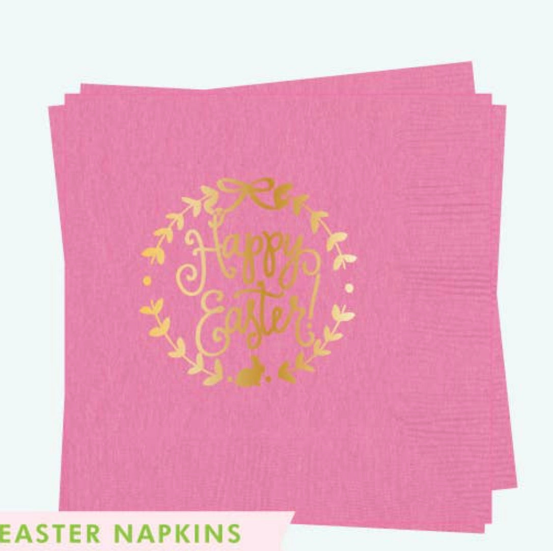 Happy Easter Pink Napkin