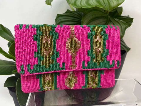 Casablanca Hot Pink mini Clutch