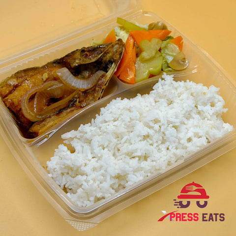Bistek Boneless Bangus with Stir Fried Veggies