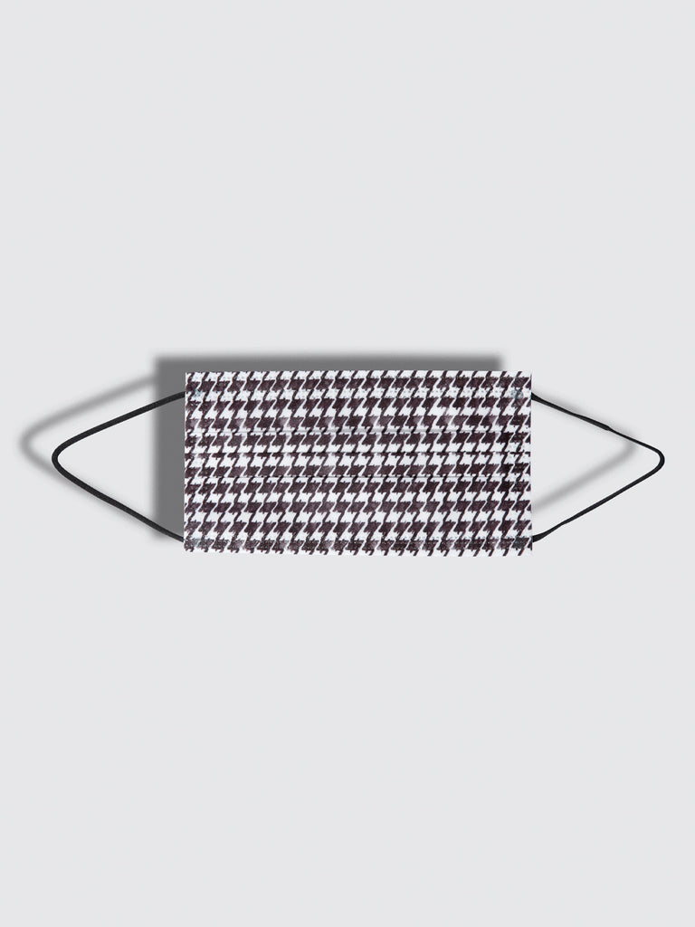 barrière unisex disposable medical masks in houndstooth print