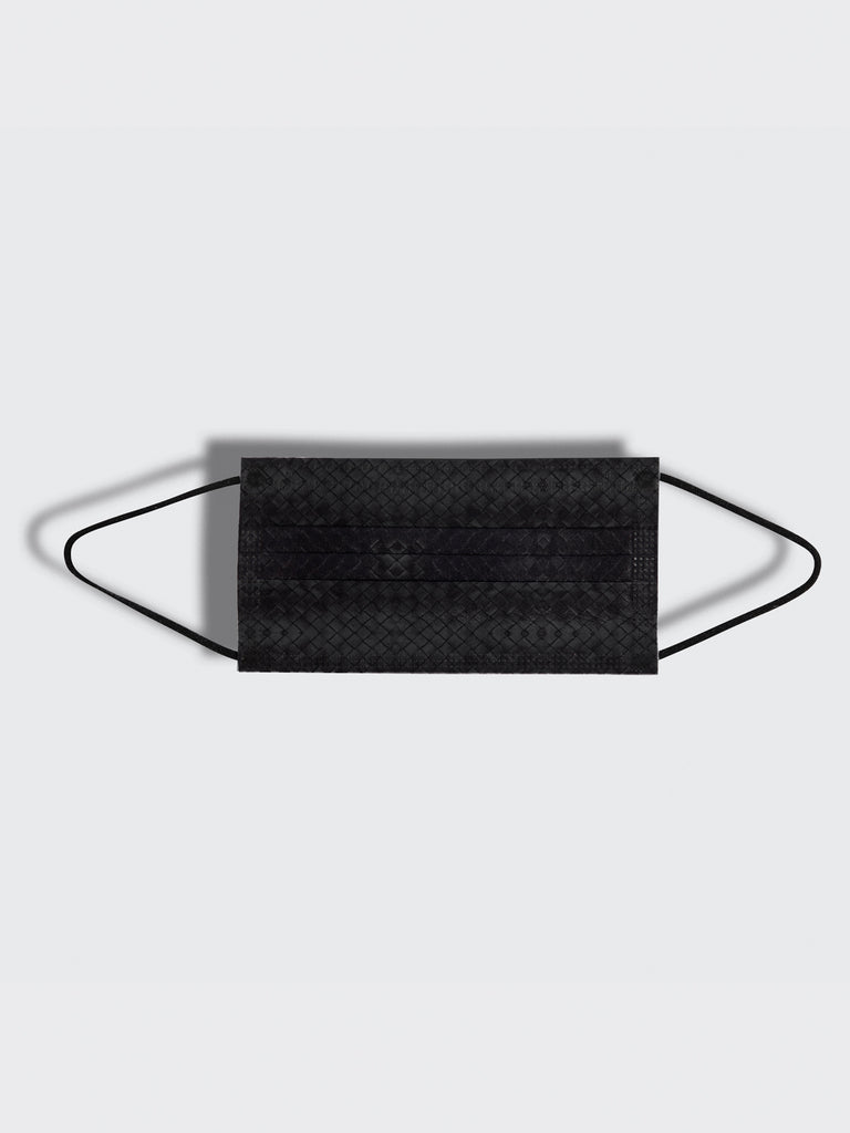 barrière unisex disposable masks in black woven texture print 30 box