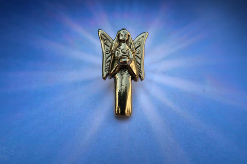 Angel Gold Lapel Pin