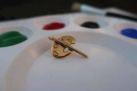 Artist Palette Gold Lapel Pin