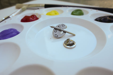 Art Palette Lapel Pin