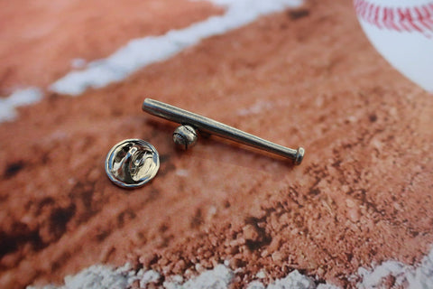 Baseball and Bat Lapel Pin