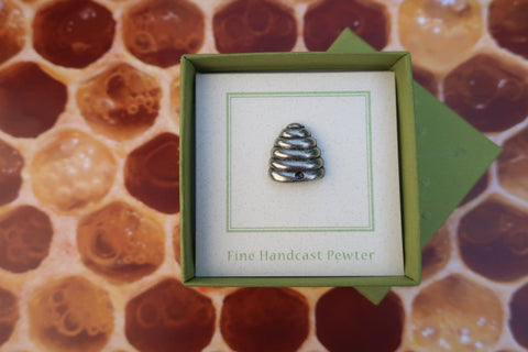 Bee Hive Lapel Pin