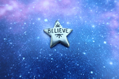Believe Star Lapel Pin