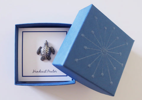 Cobalt Blue Lapel Pin Gift Box