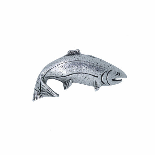 F032 Pewter Steelhead Male Fish Lapel Pin or Refrigerator Magnet Made in USA