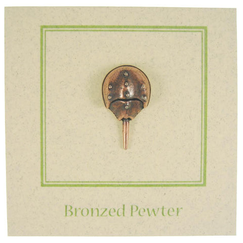 Horseshoe Crab Copper Lapel Pin