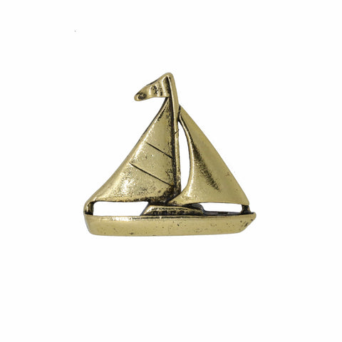 Sailboat Gold Lapel Pin