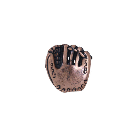 Baseball Glove Copper Lapel Pin