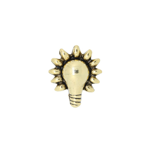 Lightbulb Gold Lapel Pin
