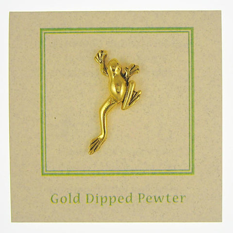 Frog Gold Lapel Pin