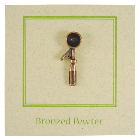 Ice Cream Scoop Copper Lapel Pin