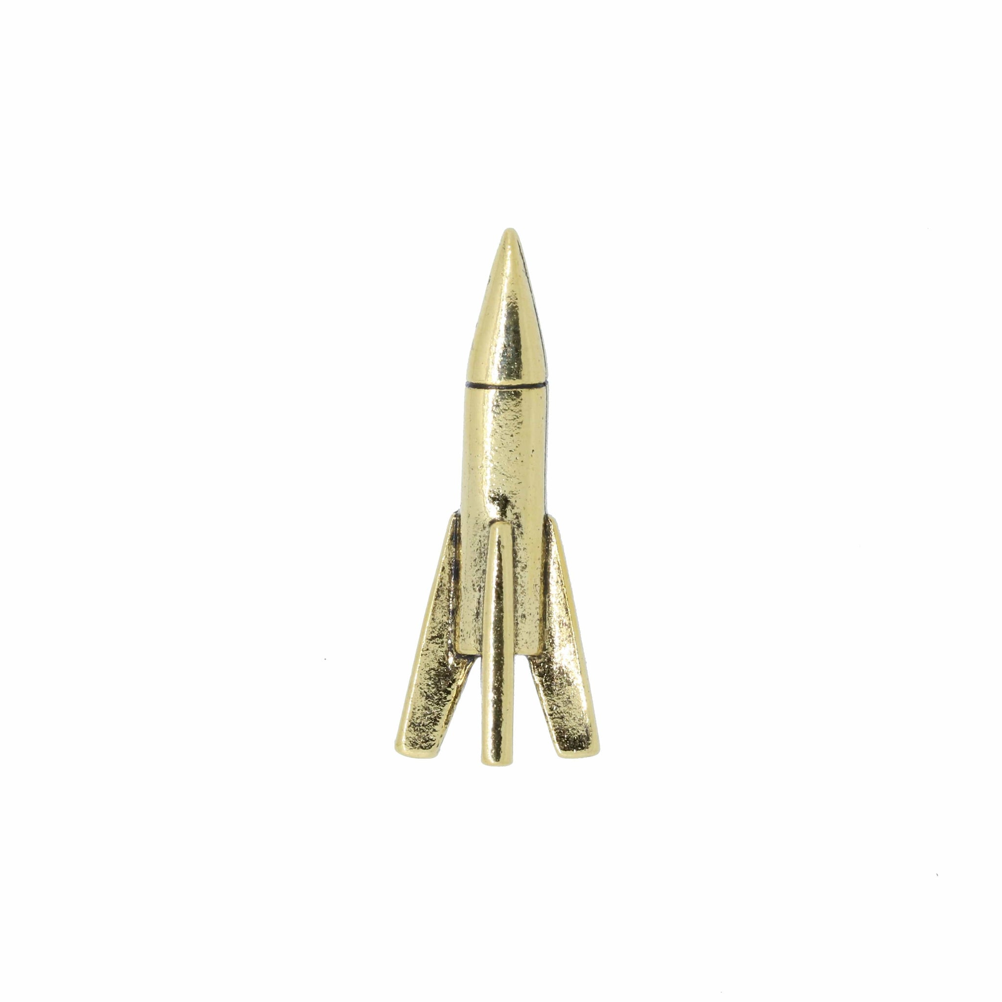 Rocket Gold Lapel Pin