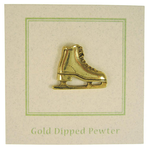 Figure Skate Gold Lapel Pin
