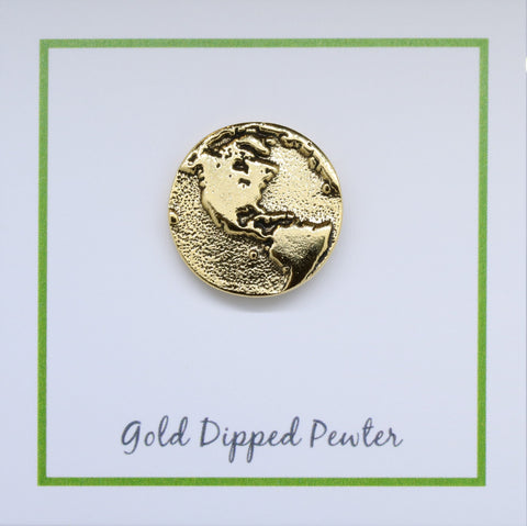 The Americas Gold Lapel Pin