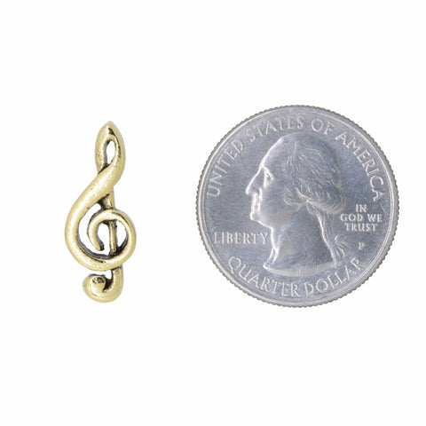 G-Clef Gold Lapel Pin