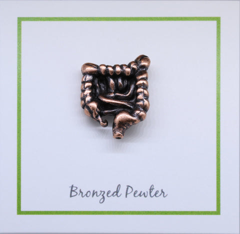 Intestines Copper Lapel Pin