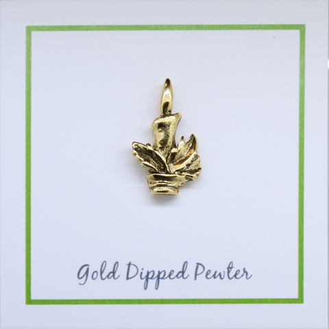 Candlestick Gold Lapel Pin