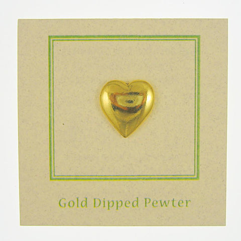Heart Gold Lapel Pin