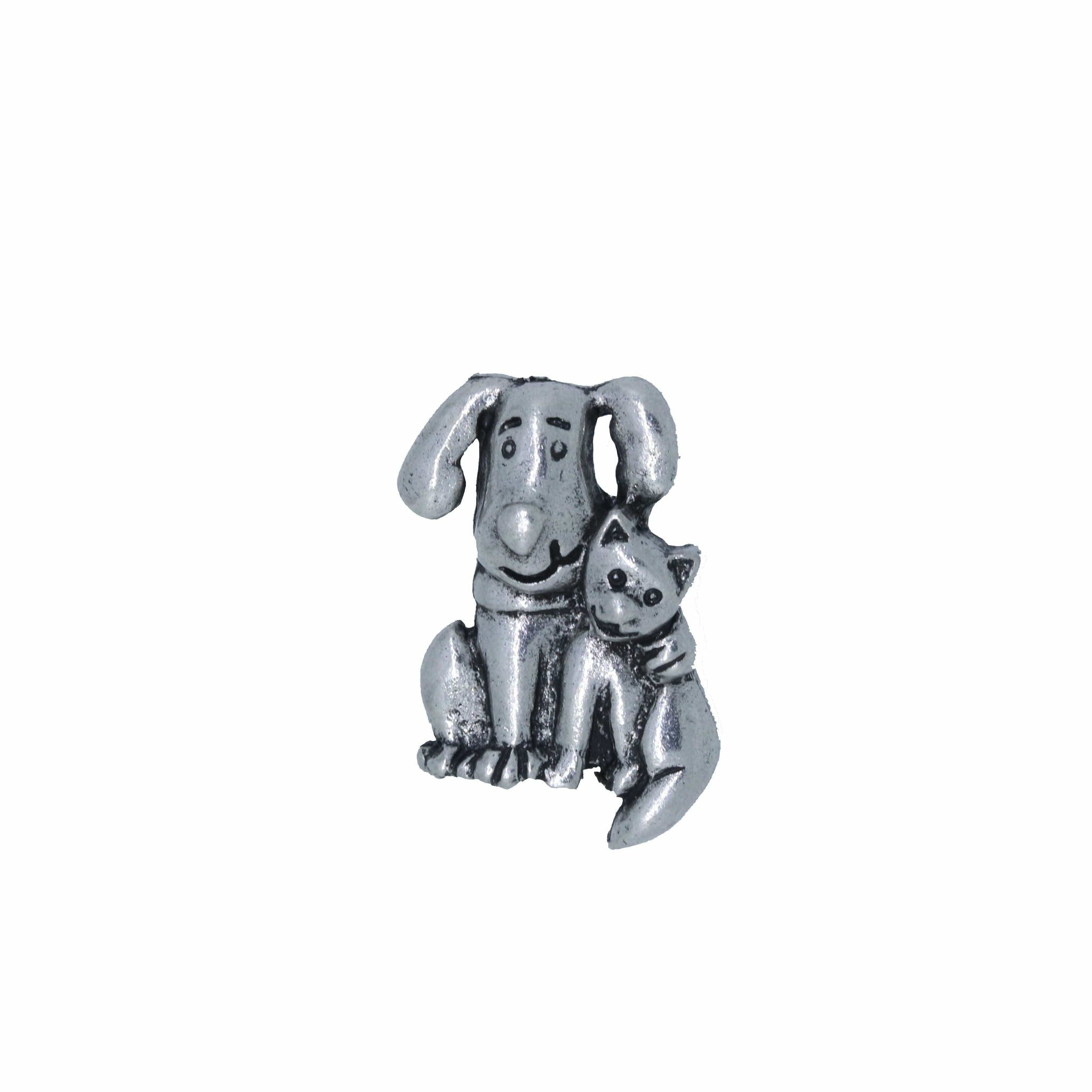 Dog and Cat Lapel Pin