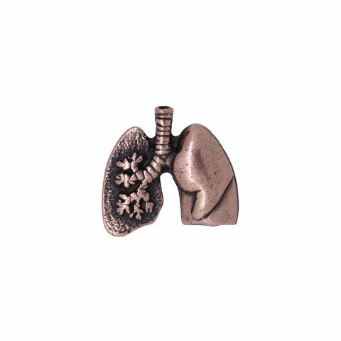 Lungs Copper Lapel Pin