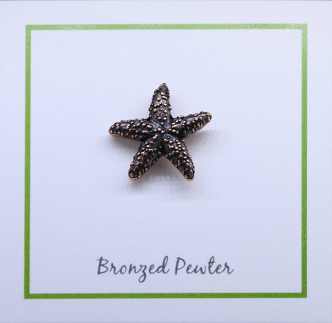 Starfish Copper Lapel Pin