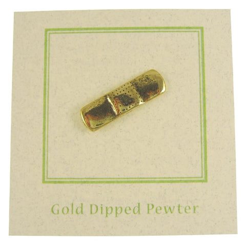 Band Aid Gold Lapel Pin
