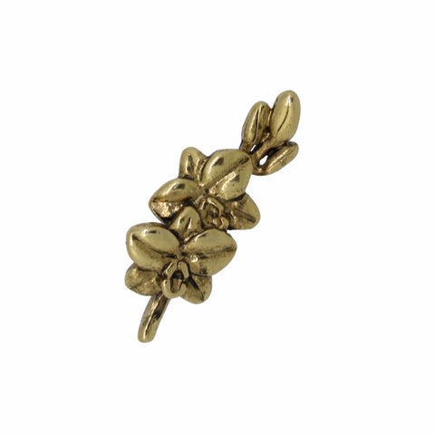 Orchid Gold Lapel Pin