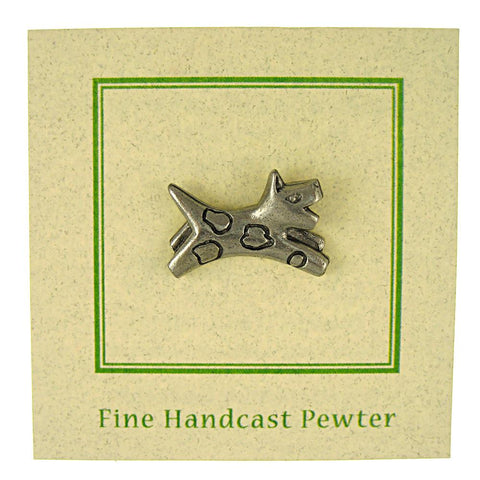 Leaping Dog Lapel Pin