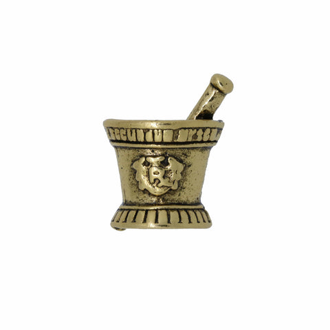 Mortar and Pestle Gold Lapel Pin