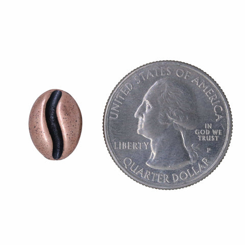Large Copper Coffee Bean Lapel Pin