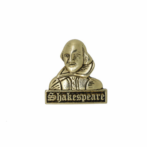 Shakespeare Gold Lapel Pin