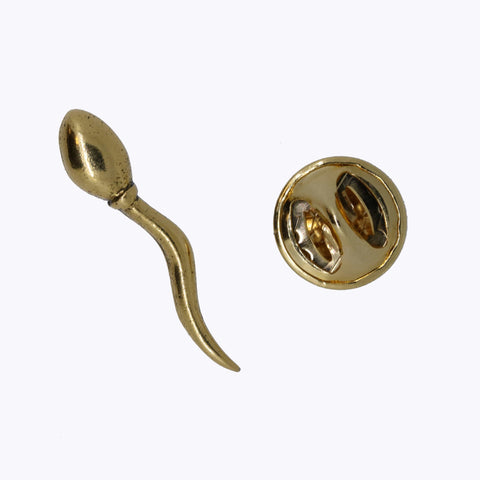 Sperm Gold Lapel Pin