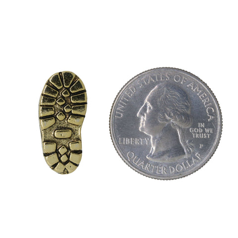 Hiking Boot Gold Lapel Pin