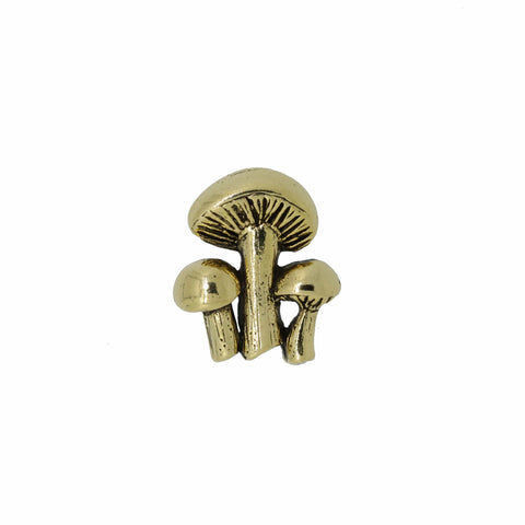 Mushrooms Gold Lapel Pin