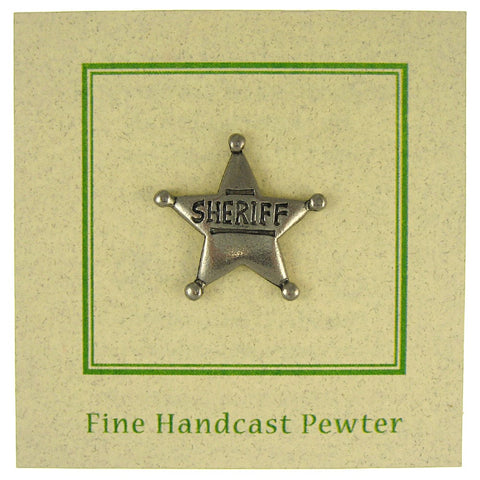 Sheriff Star Lapel Pin