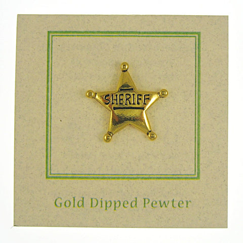 Sheriff Star Gold Lapel Pin
