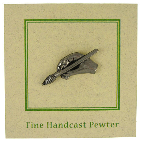 Artist's Hand with Brush Lapel Pin