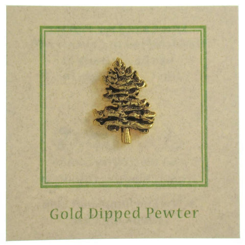 Northern White Pine Gold Lapel Pin