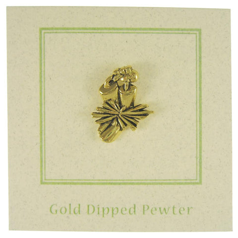 Dynamite Gold Lapel Pin