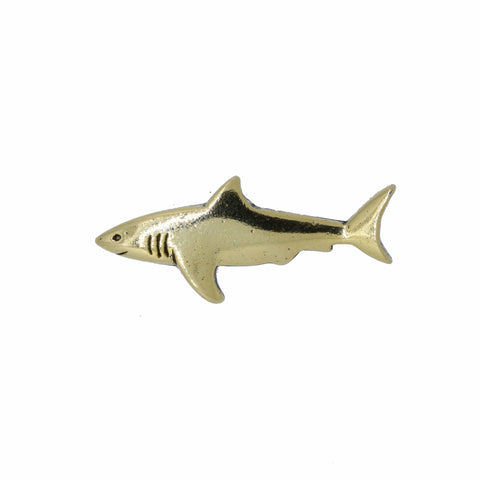 Shark Gold Lapel Pin
