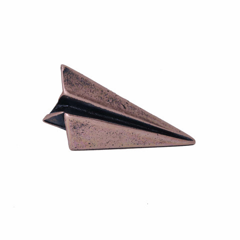 Paper Airplane Copper Lapel Pin