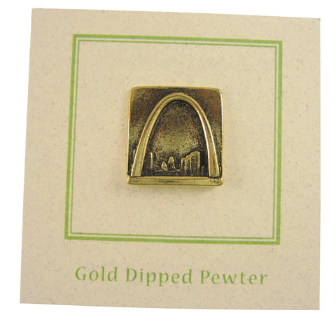 St Louis Arch Gold Lapel Pin