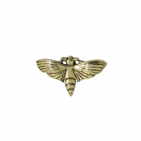 Moth Gold Lapel Pin