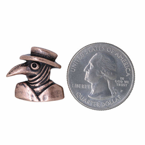 Plague Doctor Copper Lapel Pin