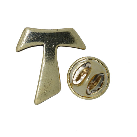 Franciscan Tau Gold Lapel Pin