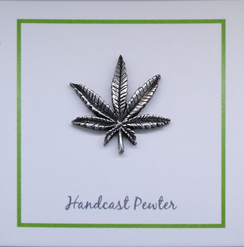 Marijuana Leaf Lapel Pin